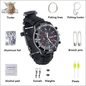 PARACORD™ 16 In 1 SURVIVAL WATCH - All Components And Uses