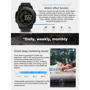 Rugged Smartwatch Tact VIBE 3 HR specs