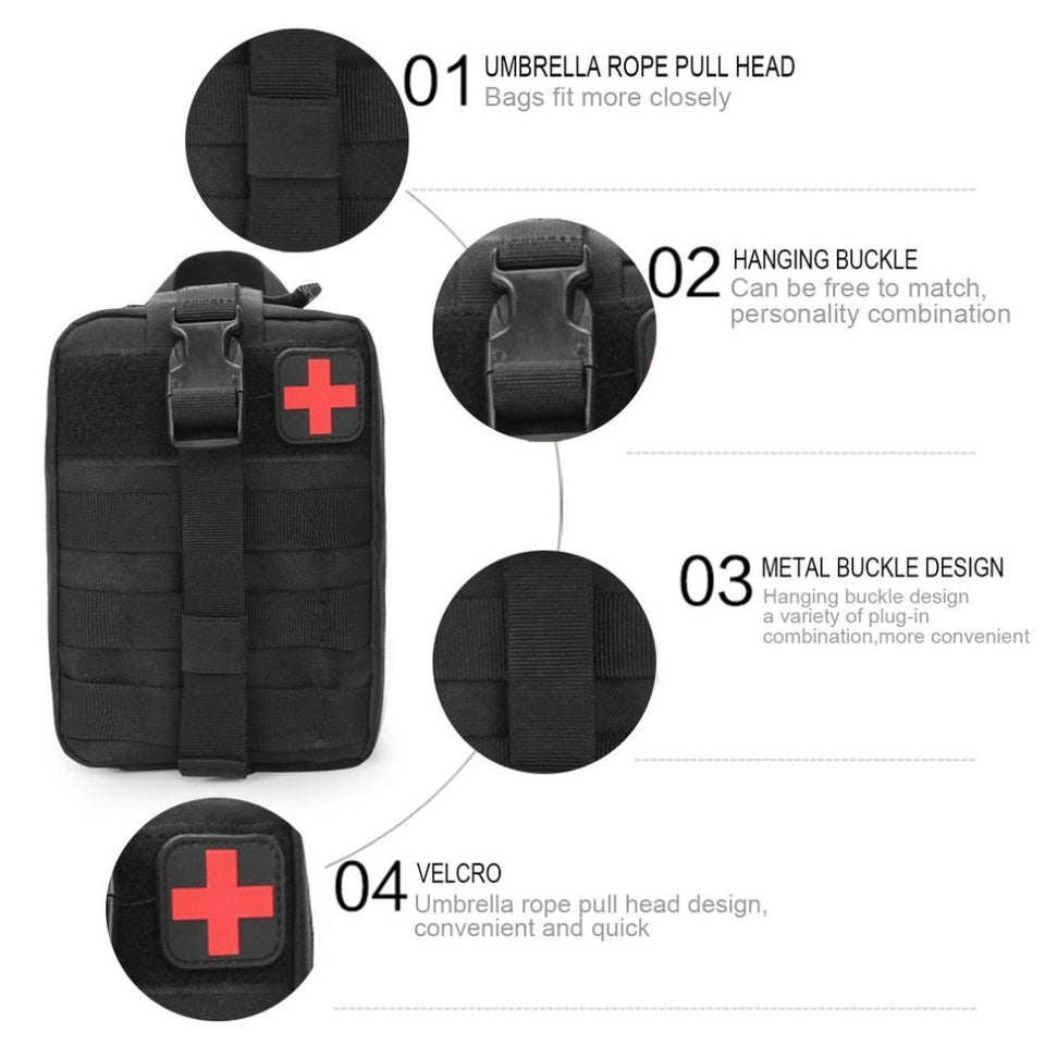 Tactical First Aid Med Kit