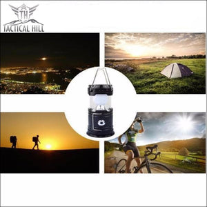 Solar Camping Light With Internal Power Bank - Flashlight