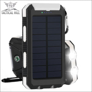 Solar Power Bank Waterproof & Shockproof Charger With Compass