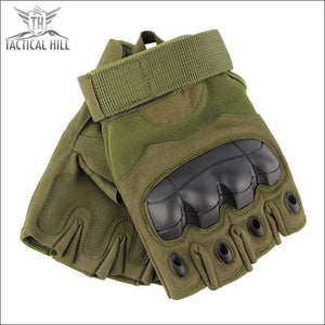 TACTICAL SPORT GLOVES - Army Green Knuckles