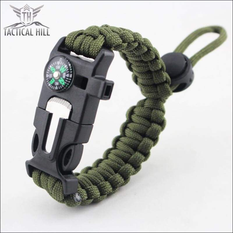 Tactical Survival Bracelet-Army-Green