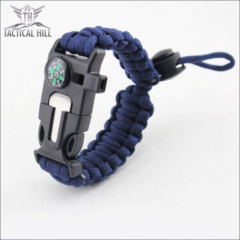 Tactical Survival Bracelet-Navy-Blue