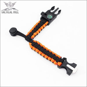 Tactical Survival Bracelet-Black-Orange-Paracord-Survival