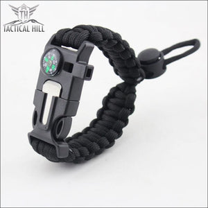 Tactical Survival Bracelet - Black
