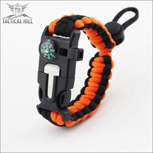 Tactical Survival Bracelet - Orange