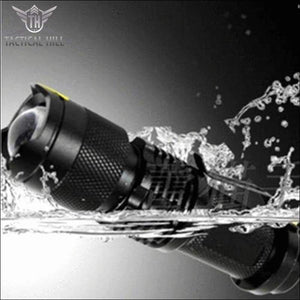 Tactical Waterproof Flashlight water resistant
