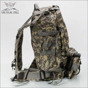 Tacticl Military Backpack 55L side view