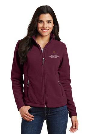 Women's Fleece Jacket w/UMC Logo - Maroon