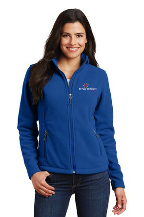 Women's Fleece Jacket w/EPCH Logo - Royal Blue