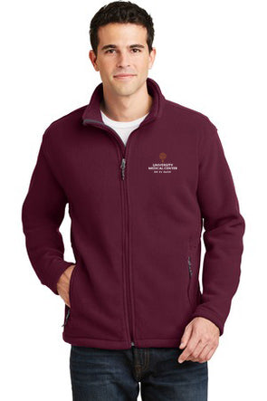 Men's Fleece Jacket w/UMC Logo - Maroon