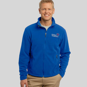 Men's Fleece Jacket w/EPCH Logo - Royal Blue