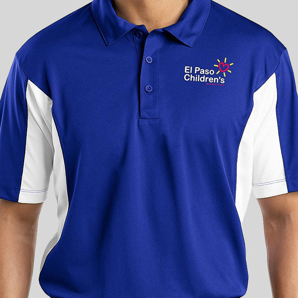 Mens Poly Polo - Royal Blue