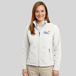 Womens Fleece Zip - White