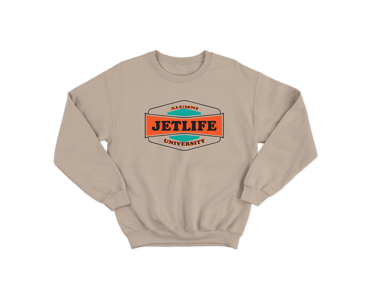 JET LIFE UNIVERSITY SWEATER [SANDSTONE]