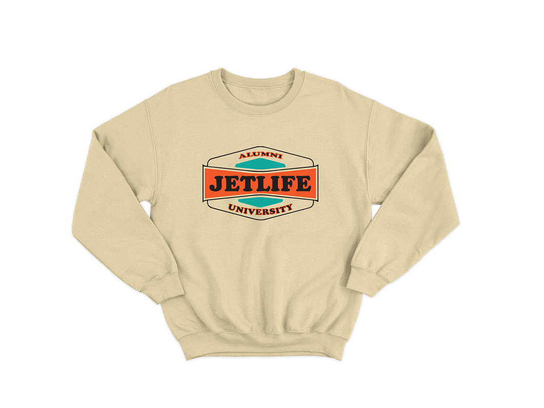 JET LIFE UNIVERSITY SWEATER [YELLOW]