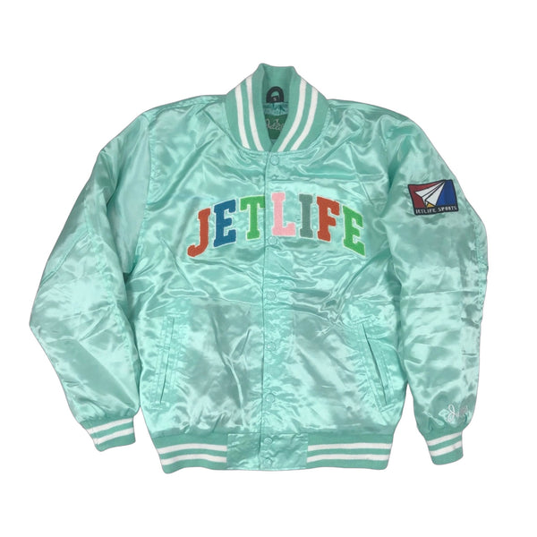 Jet Life Satin Jacket V2 [TIFFANY]