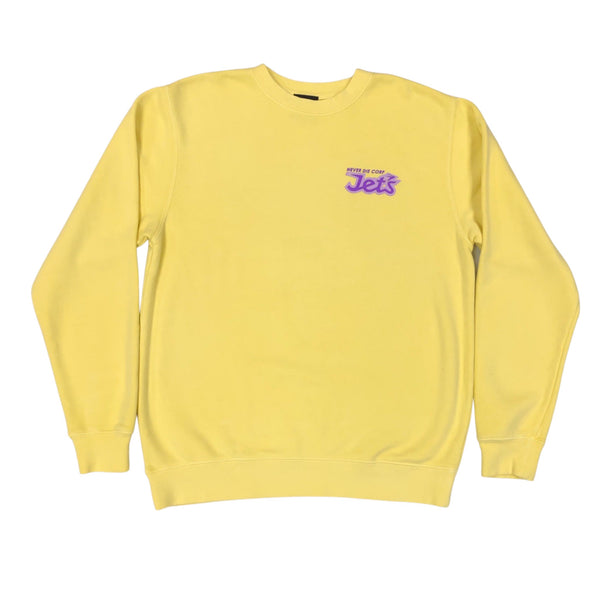 "JET LIFE ""NEVER DIE"" SWEATER [YELLOW]"