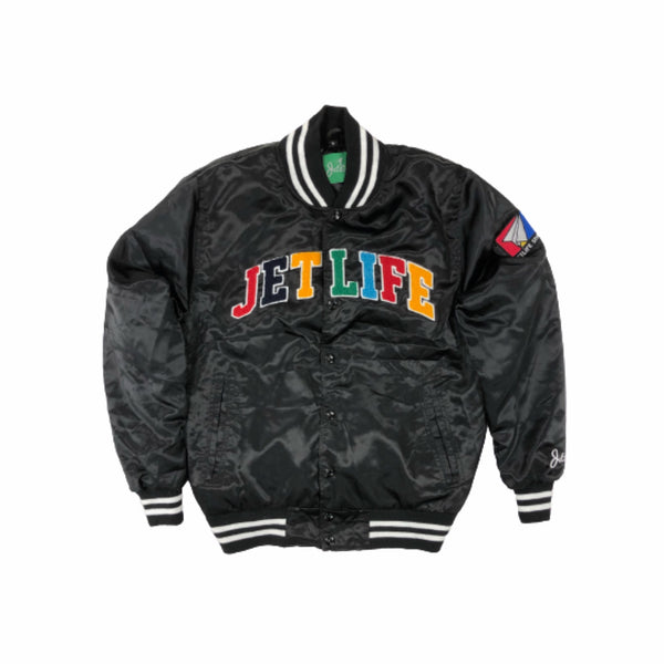 Jet Life Satin Jacket V2 [BLACK]