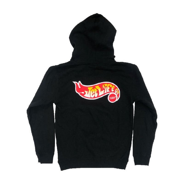 JET LIFE X STARTING LINE HOBBIES HOODIE [BLACK]