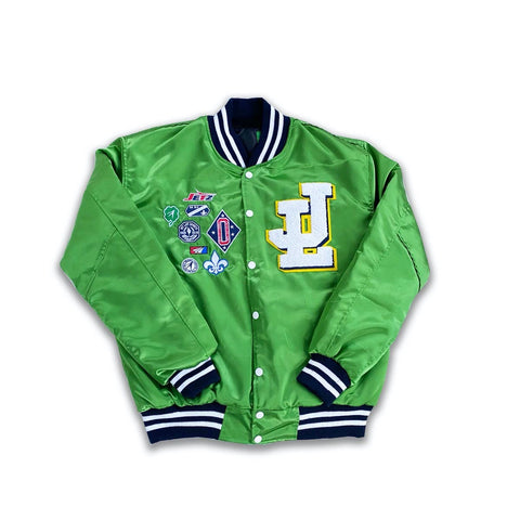 "Jet Life ""Varsity Team"" Satin Jacket [GREEN]"