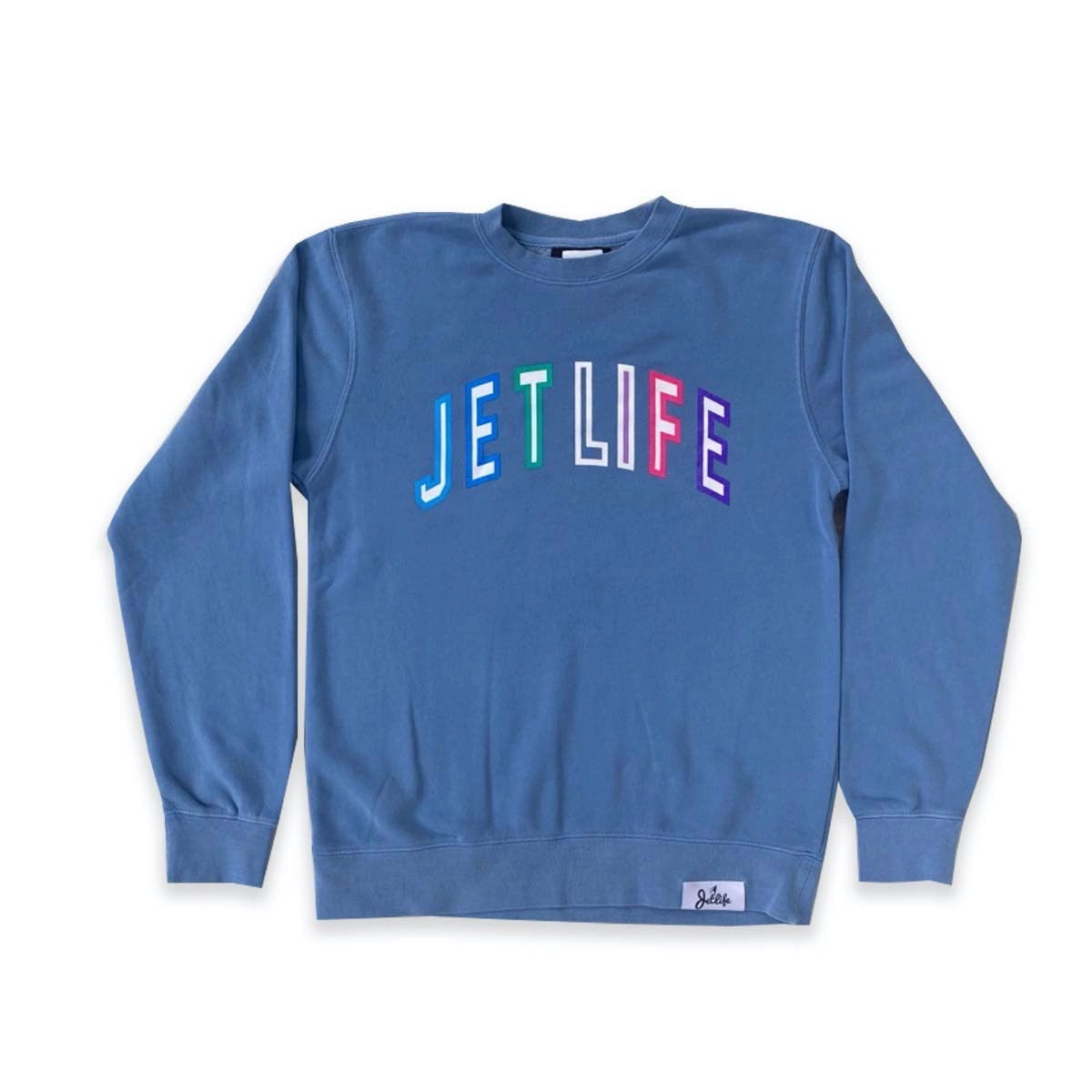 JET LIFE COLLEGE SWEATER [BLUE]