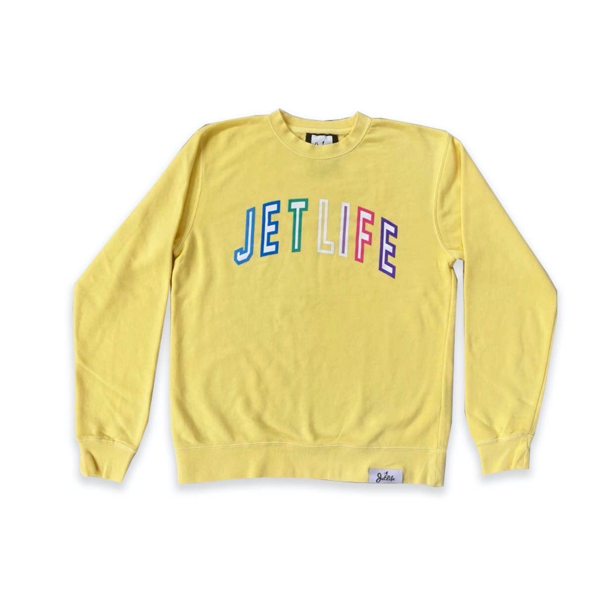 JET LIFE COLLEGE SWEATER [YELLOW]