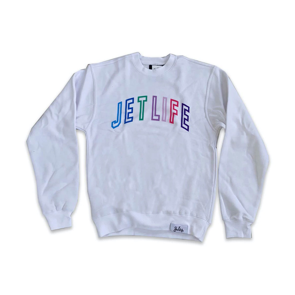 JET LIFE COLLEGE SWEATER [WHITE]
