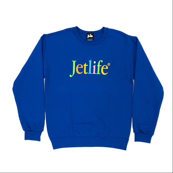 "JET LIFE ""BORN TO MAC"" SWEATER [ROYAL]"