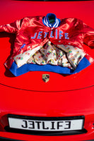 "JET LIFE ""CARERRA RED"" SATIN JACKET"