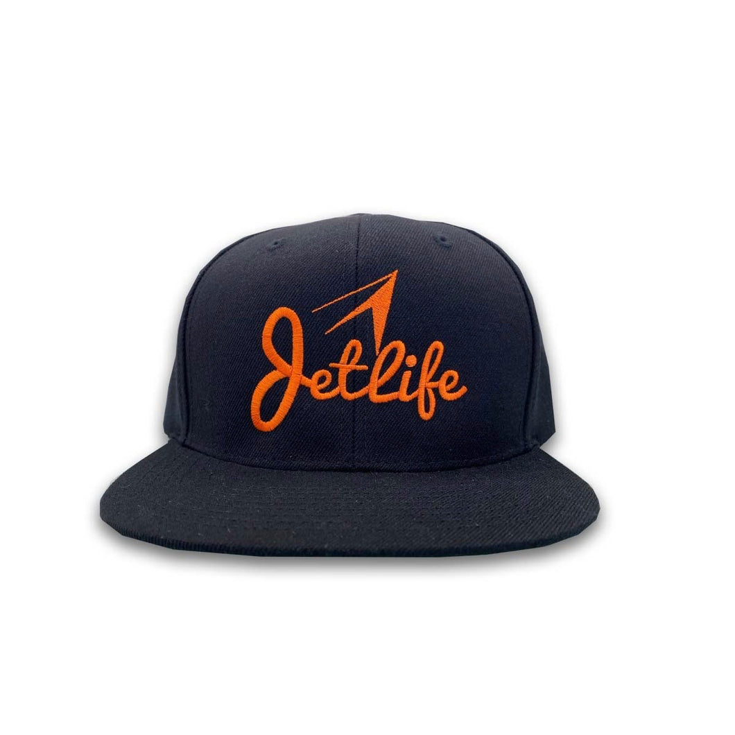 JET LIFE LOGO SNAPBACK [BLACK/ORANGE]