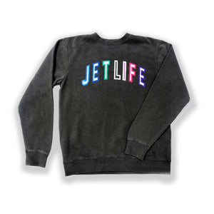 JET LIFE COLLEGE SWEATER [BLACK]