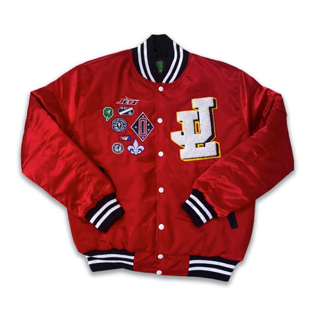 "Jet Life ""Varsity Team"" Satin Jacket [RED]"