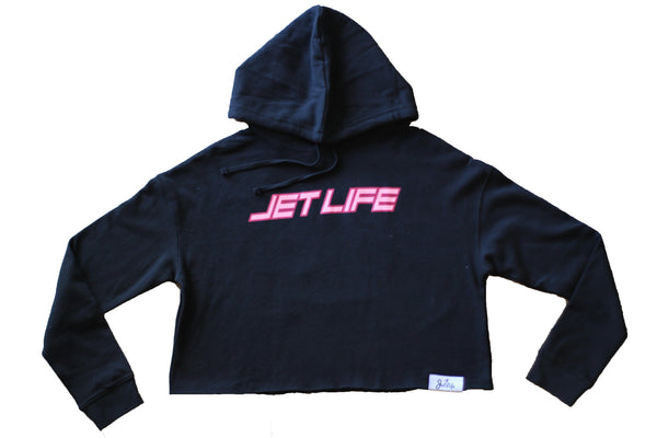 "Jet Life ""WMNS"" Cropped Hoodie [BLACK]"