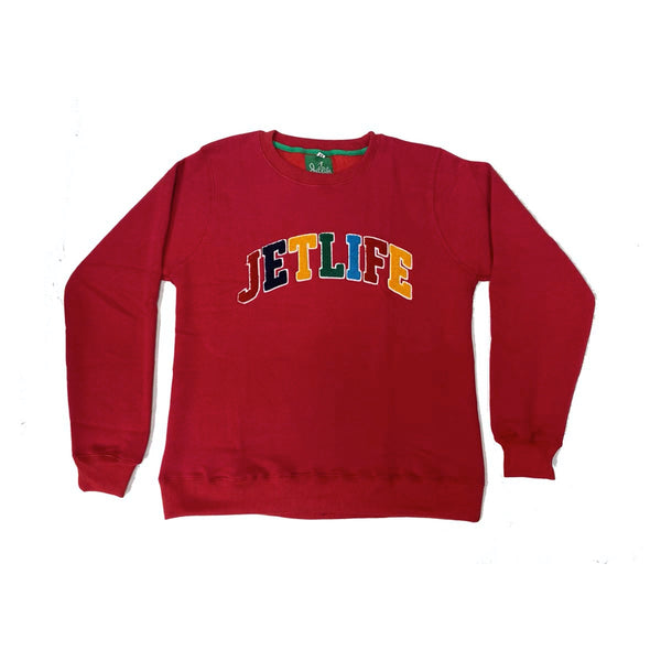 "JET LIFE ""CAPITAL"" SWEATER [RED]"