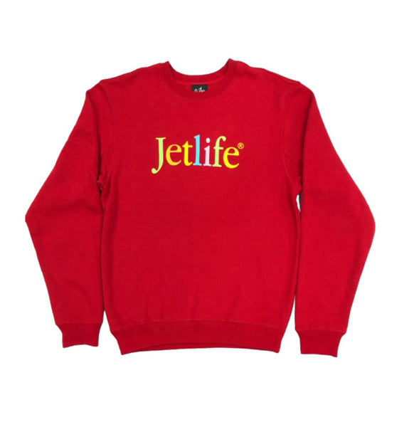 "JET LIFE ""BORN TO MAC"" SWEATER [RED]"