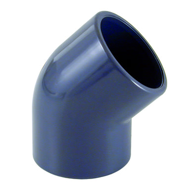 PVC Imperial Pressure Pipe 45 Elbow