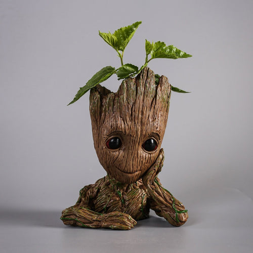 Treeman Baby Groot Star-Lord Pen Cactus Succulent Planter Pot Container Multifunction Desk Organizer Accessories