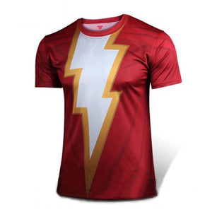 Shazam Cosplay 3D Printed Tee Male