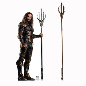 Deluxe Justice League Aquaman Trident Arthur Curry Cosplay Props
