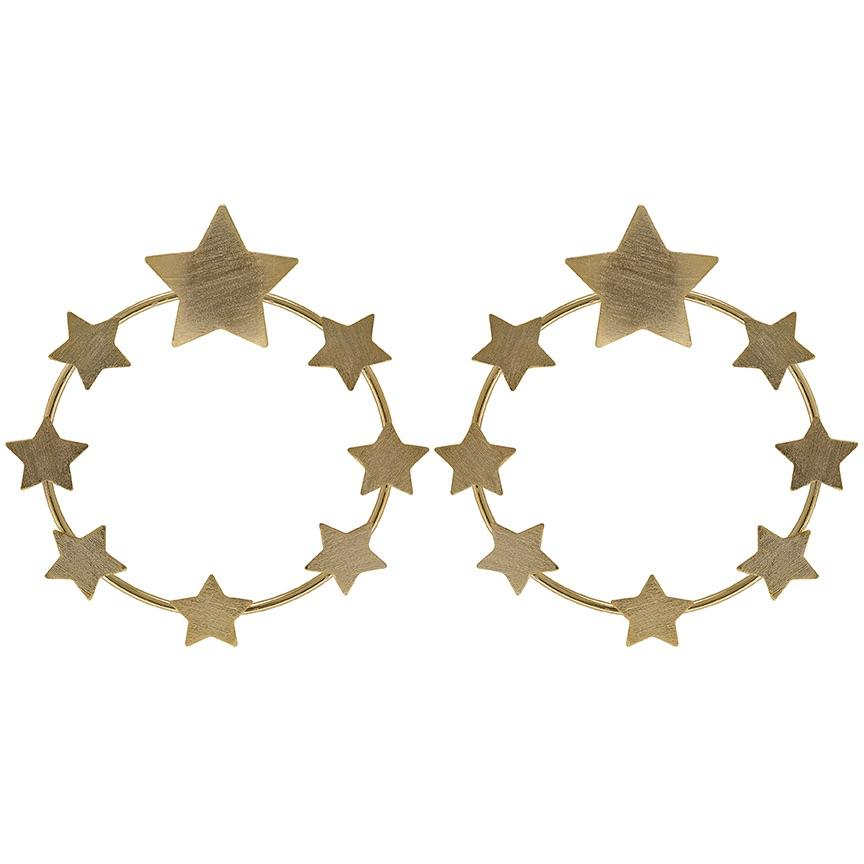 7 Stars Post Earrings