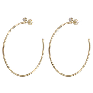 Briana Thin Hoop in Champagne