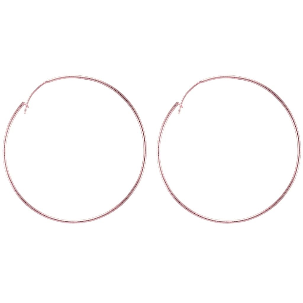 Lisa Hoops in Brushed Rose Gold