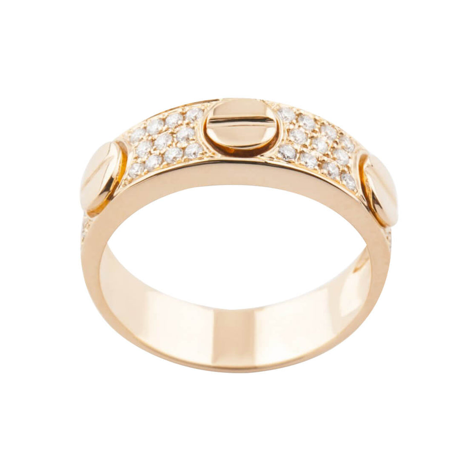 18K Gold Luxury Ring with Diamond