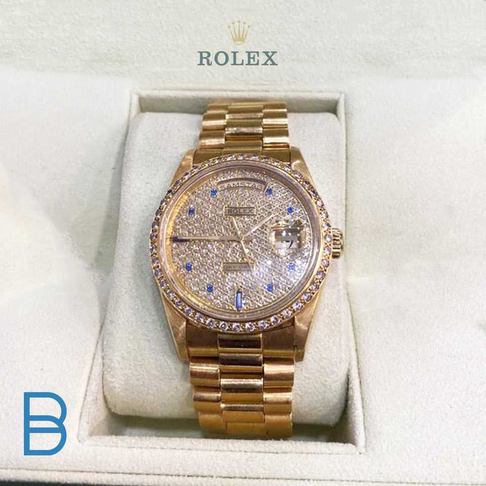 18k full gold original Rolex