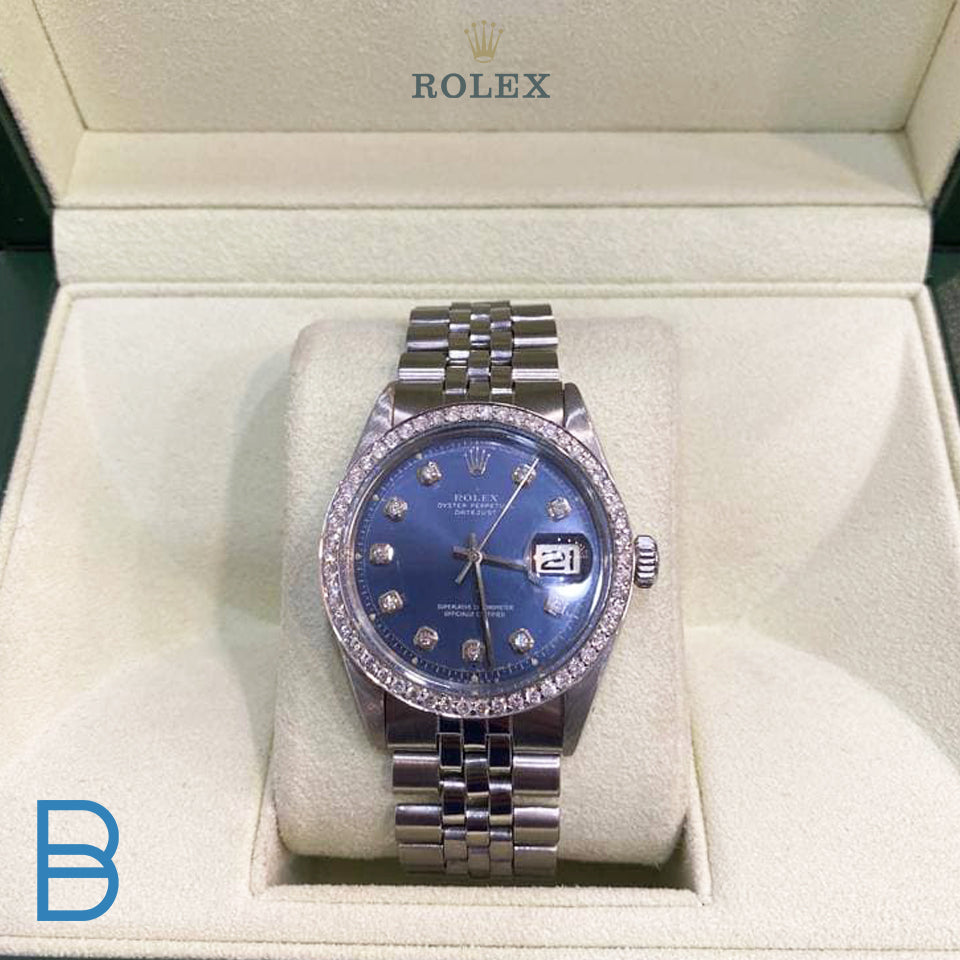 Stunning blue dial Rolex watch!