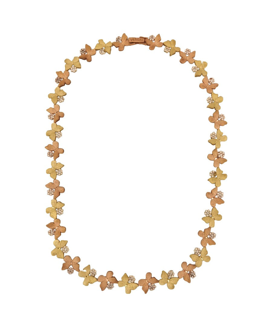 18k Gold Necklace in gold and rose gold color