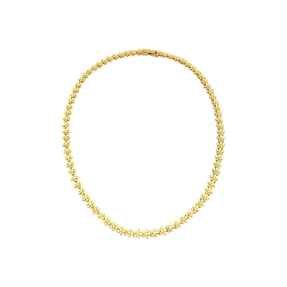 18k Gold Flower Necklace