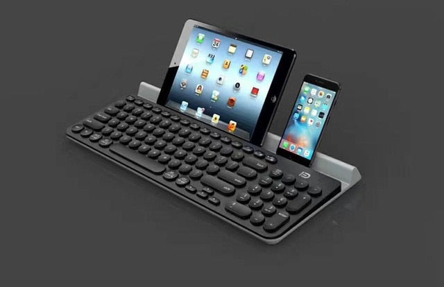 Bluetooth Multi-Device keyboard for Ipad Iphone Computer Laptop Smart Phone Tablet Android with Stand  Girl Cute Keyboard